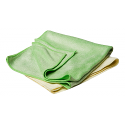 Flexipads Buffing Towels Yellow & Green (set of 2) 40x40cm