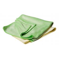 Flexipads Buffing Towels Yellow & Green (set of 2) 40x40cm