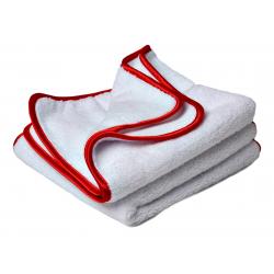 Flexipads Ręczniki polerskie z mikrofibry dwustronne (ścieranie i polerowanie) białe 40 x 40cm (2szt.)