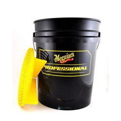 Meguiar's Professional Wash Bucket with Grit Guard - black/yellow